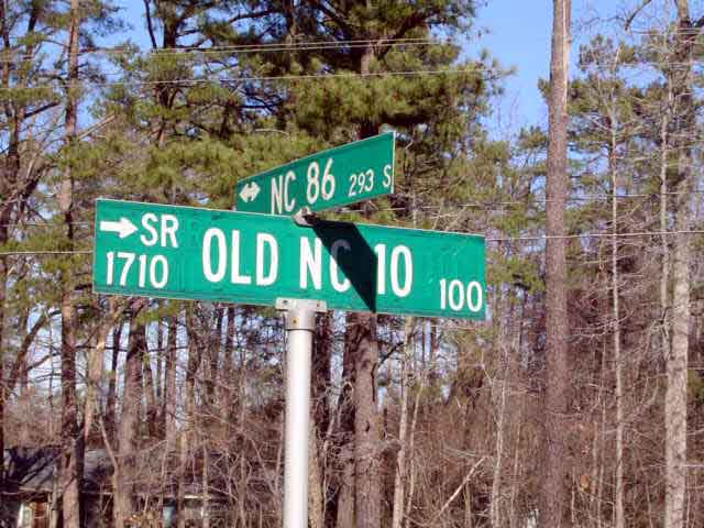 Old NC 10 - Orange County